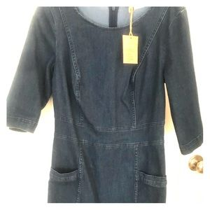 Boden denim dress with pockets - NWT  - 8